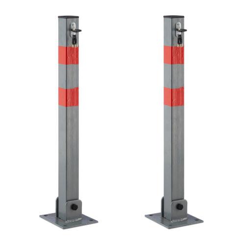 2x absperrpfosten cuadrada bloqueo por viajes plaza de estacionamiento bloqueo acero sperrpfosten