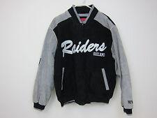 NFL Oakland Raiders Leather Varsity Jacket - Mens Large