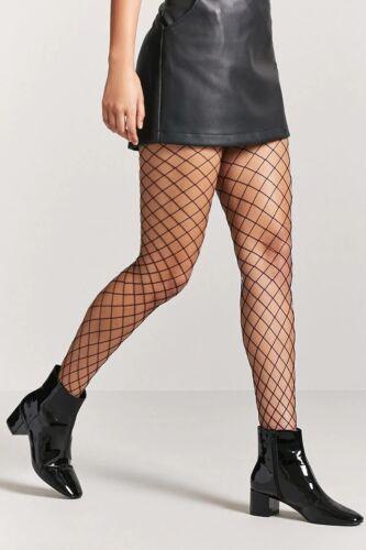 fishnet tights geometric black diamond large-net size XS//S CALZEDONIA RRP £11