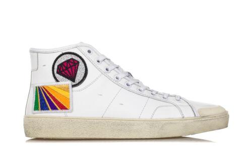Pelle 37m Uomo Scarpe Patch Sneakers Bianca Laurent Saint Signature Court Sl 1qzBBx