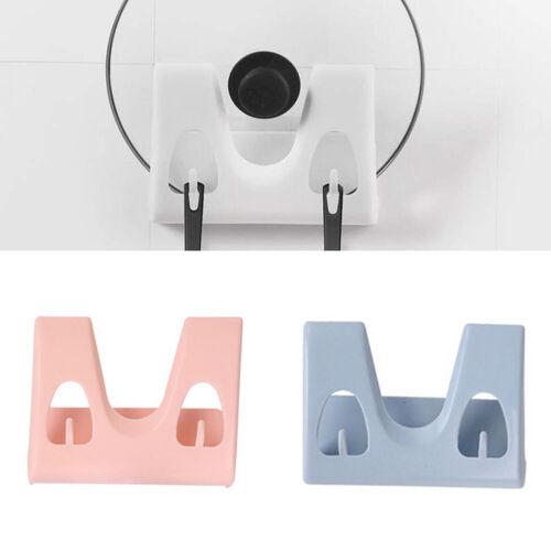 HD/_ Wall Mount Pot Lid Rack Organizer Punch-Free Space Saving Pan Cover Holder S