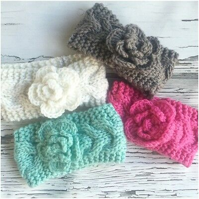 Kids' Clothing, Shoes & Accs Newborn Baby Girls Stretch Knit/knitted Ear Warmer Headband Professional Design Hair Accessories Temperate Miss Sienna