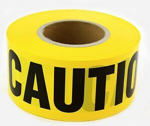 8 Roll Yellow Barrier Caution Tape Heavy Duty 3 Quot X1000
