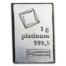 1 gram Platinum Bar - Secondary Market - SKU #24518