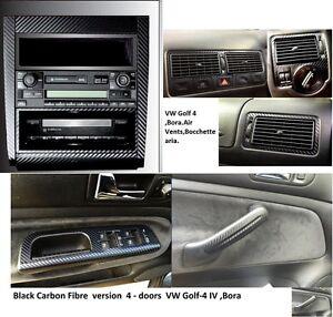 3-Set-Adesivi-di-fibra-in-carbonio-per-Maniglie-Bocchette-Console-VW-GOLF-4-BORA