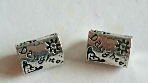 SILVER PLATED DAUGHTER BEAD FOR EUROPEAN CHARM BRACELETS