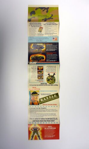 GI Joe Sargent abattage bataille Catalogue vintage BROCHURE LIVRET COMPLET 1986