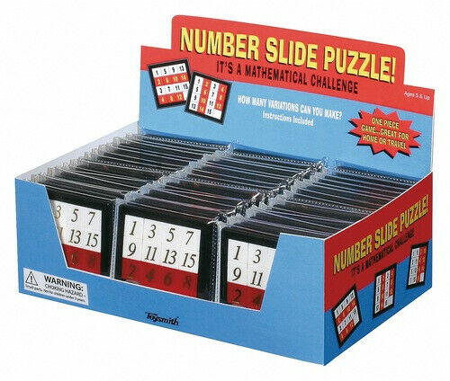 HCM KINZEL 591956 Zahlen Schiebepuzzle Number Slide Puzzle Mathematik Spiel