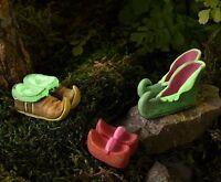 Miniature Fairy Garden Elf Gnome Fairy Shoes Glow-in The-dark 3 Asst Gi 700366