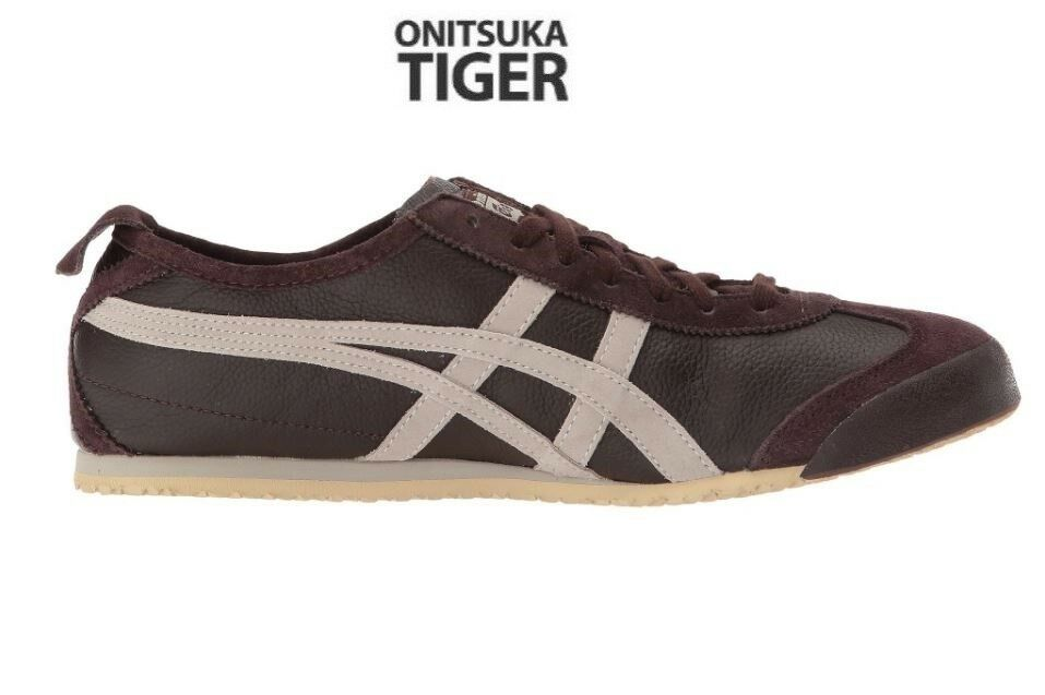 Asics Onitsuka Tiger Mexico 66 Vintage Coffee Fashion Sneakers, Chaussures D2J4L-2912