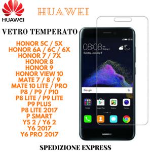 HUAWEI-VIEW10-Y6-MATE10-P8-9-LITE-HONOR5-6-7-Vetro-Temperato-Pellicola-Schermo
