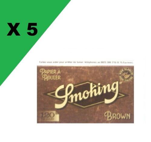 Smoking brown courte lot de 5 carnets de feuille a rouler