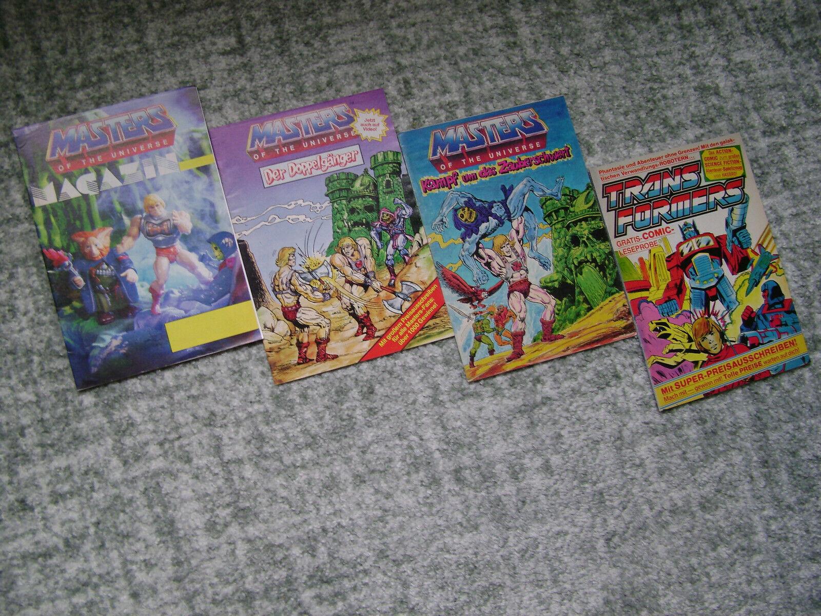 3 GERuomo MASTERS OF THE UNIVERSE & 1 TRANSFORMERS COMICS   MAGAZINES