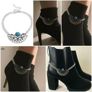 Charms-Winter-Fashion-Silver-Over-The-Boots-Anklet-Party-Jewellery