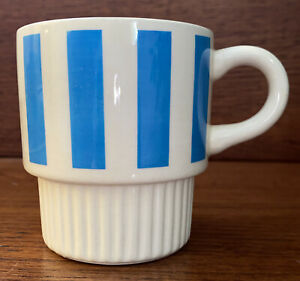 Vintage McCoy Coffee Mug Cup Stacking Striped