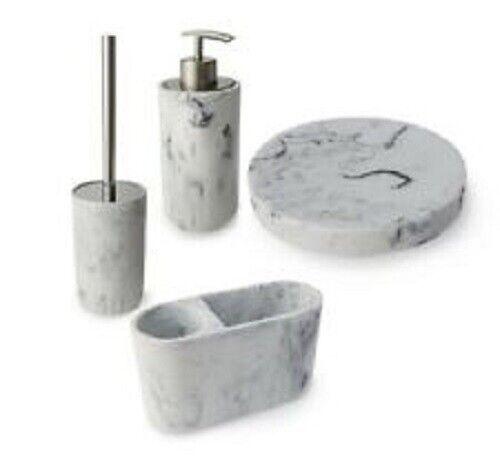 Blue Canyon Madison Marble Effect Toilet Brush /& Holder 6851