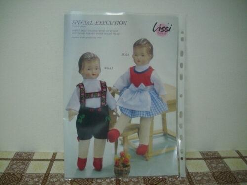 Alte Puppe 30cm mit Pappmaschekopf von Lissi Bätz