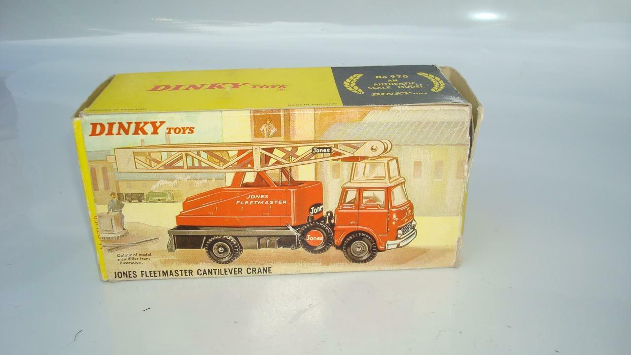 DINKY TOYS 970 970 970 JONES FLEETMASTER CANTILEVER CRANE EXCELLENT NR MINT BOXED 4d440d