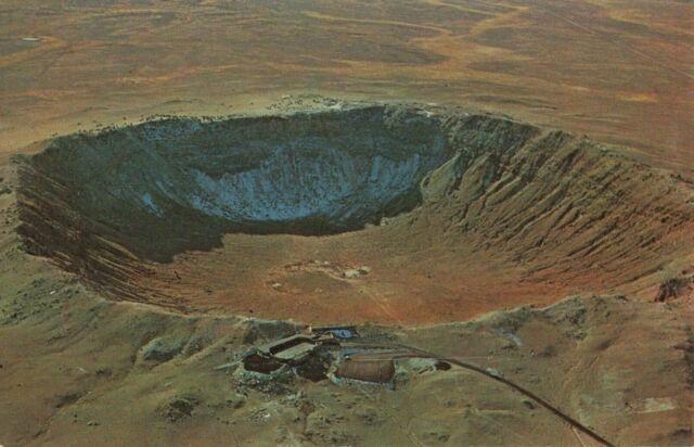 Postcard Meteor Crater Arizona