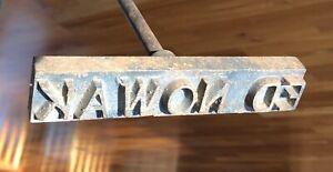Custom Ed Nowak Branding Iron Steel Wood Burning Imprint Stencil Printing Ebay