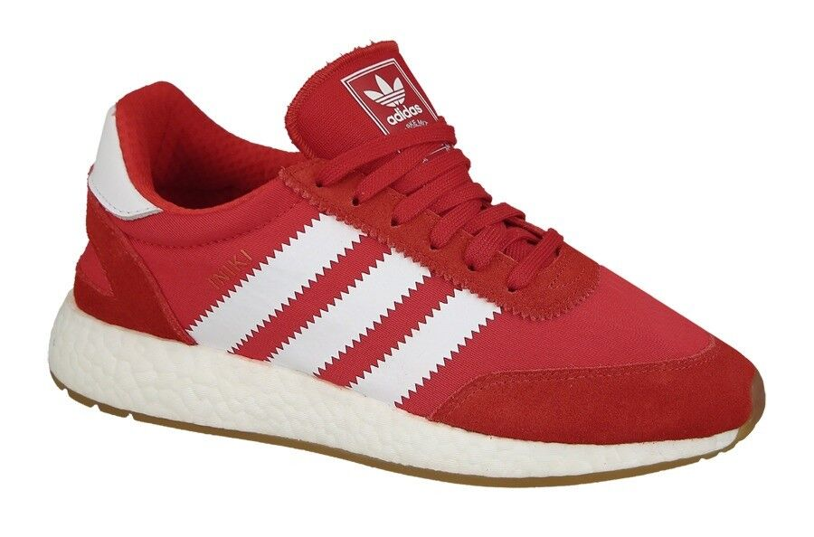 Adidas INIKI RUNNER Red Running White Gum Sneaker BY9728 (418) Men's Shoes
