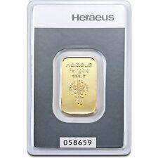 Lingot or 10 grammes or pur 24 carats 999/1000 Heraeus gold bar 10 gr