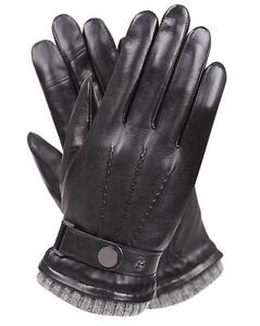 Mens Genuine Nappa Leather Touch Screen Function Gloves More Colors On Sale #M42