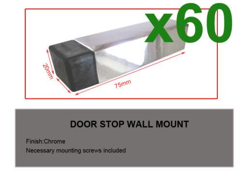 Builders!!!!60pcs Door Stop-square-chrome