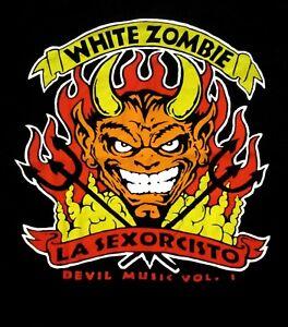 WHITE-ZOMBIE-cd-lgo-LA-SEXORCISTO-DEVILS-MUSIC-VOL-1-Official-SHIRT-XXL-2X-new
