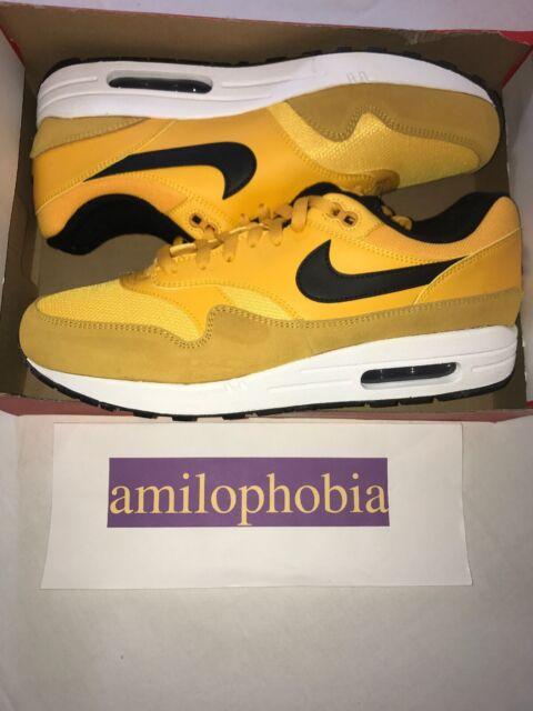 Men's Nike Air Max 1 Premium Size 12 Gold Black Running Shoes