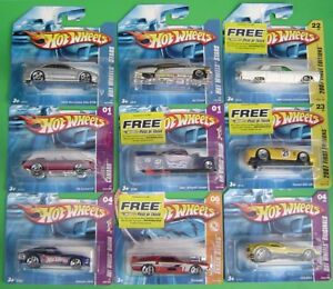 Vintage-2007-Hot-Wheels-Cars-on-short-cards-Your-Choice