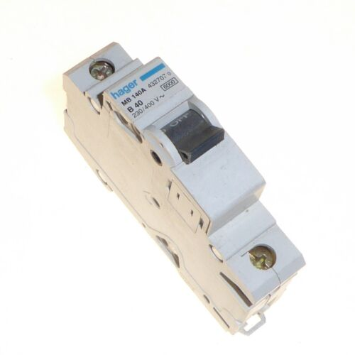 Hager disjoncteur Disjoncteur 32 A 40 A type B type 6klA C 10kA Single Pole