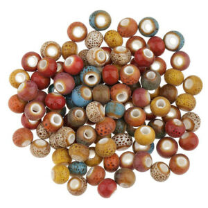 0-24in-Kit-Loose-Ceramic-Porcelain-Beads-Charms-For-Jewelry-Making-Craft-DIY100P