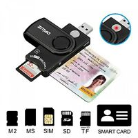 Multifunction Smart Card Reader, Cac/ Dod/ Sd Hc/xc/ Mmc, Rs&4.0 Usb Memory