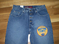 Old Navy Exposed Button Front Fly Denim Jeans Bootcut Straight Sz 8 11 Rise