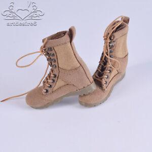 1-6-Soldier-Desert-Combat-Boots-Model-Sand-Shoes-Lace-Up-Fit-12-039-039-Body-Figure