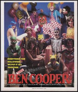 BEN COOPER, Inc__Original 1986 Trade Print AD / ADVERT__Halloween Costumes
