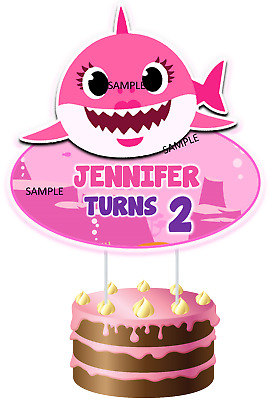 INSPIRED Custom BABY SHARK CAKE TOPPER R2 PERSONALIZED FOR BIRTHDAY