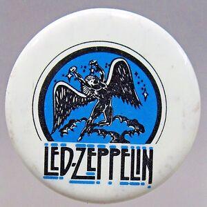 "uncommon 1970's LED ZEPPELIN 1.5"" pinback button"