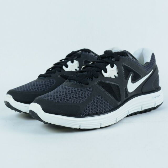 NIKE WMNS LUNARGLIDE+ 3 RUNNING SHOES ANTHRACITE WHITE 454315 001 SZ 5.5  WORN 90e79307fc44