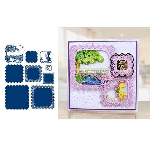 Square Scene Set Metall Stanzformen Schablone Für DIY Scrapbook Karten Handwerk