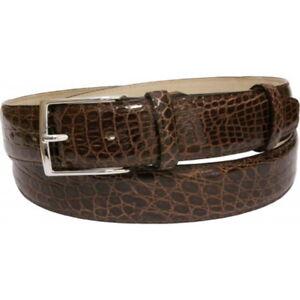 Cintura-3-5-cm-in-fianco-di-coccodrillo-con-fibbia-a-scelta