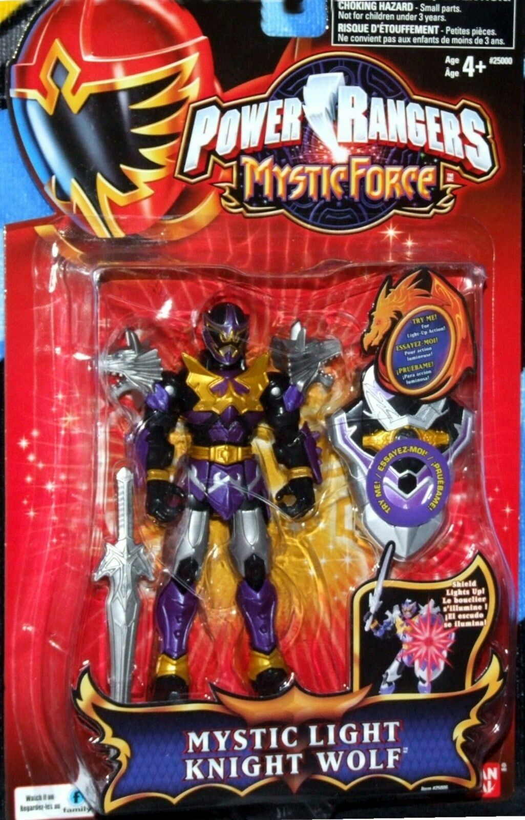 Power Rangers Mystic Force Light Knight Wolf 5  Purple Ranger Factory Sealed New