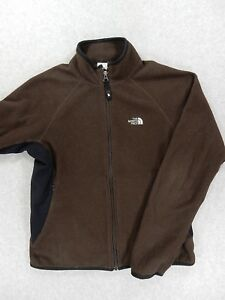 The North Face Fleece Full Zip Fleece Jacket (Womens Medium) Brown ... 38a77b0f2