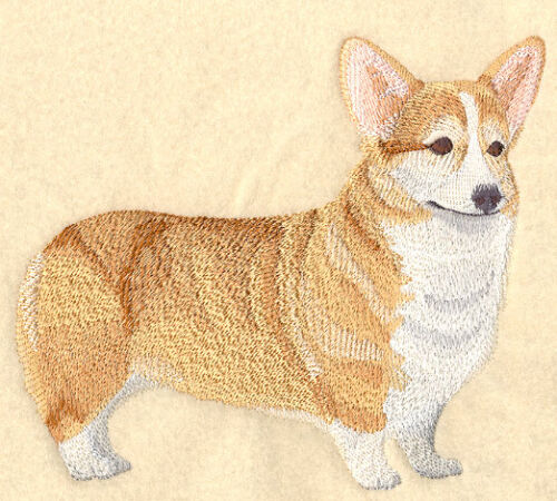 WELSH CORGI U PIC SET OF 2 HAND TOWELS EMBROIDERED By Laura