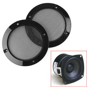 "2pcs 3/""Inch Matt Type Circle Speaker With Protective Grille Decorative Circle"