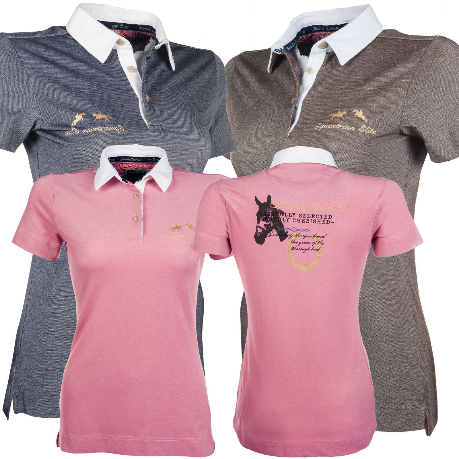 Lauria Garelli Breathable  Comfortable Tailored Ladies Womans Queens Polo Shirt  deals sale