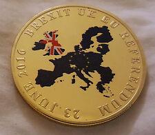 BREXIT Gold Coin Color Europe Map UKIP United Kingdom Man Vote London Politics C