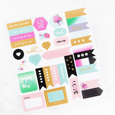 1 Pc Notebook Planner Album Diary DIY Decor Diary Stationery Stickers Hot Sale