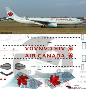 V1 Decals Airbus A330-300 Air Canada for 1/144 Revell Model Airplane Kit V1D0271